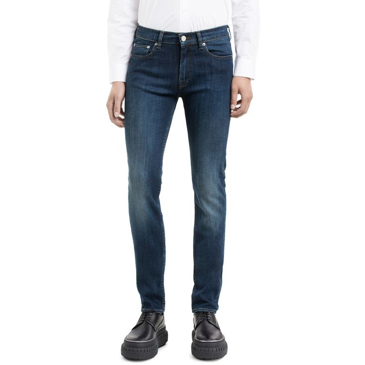 Acne Studios Ace tint jeans comes super slim with a comfortable normal waist.