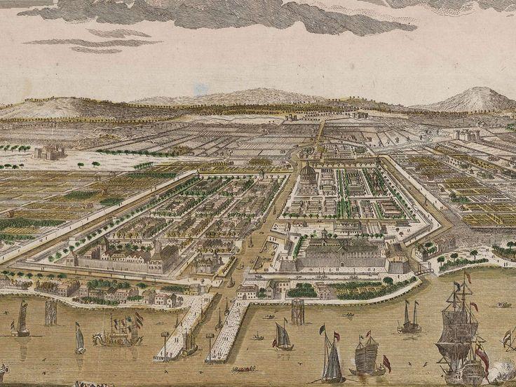 Schoolplaten: Indië - Op de puinhopen bouwden ze Batavia, de hoofdstad van Nederlands-Indië. Alle VOC-vestigingen in Azië werden van hieruit bestuurd.