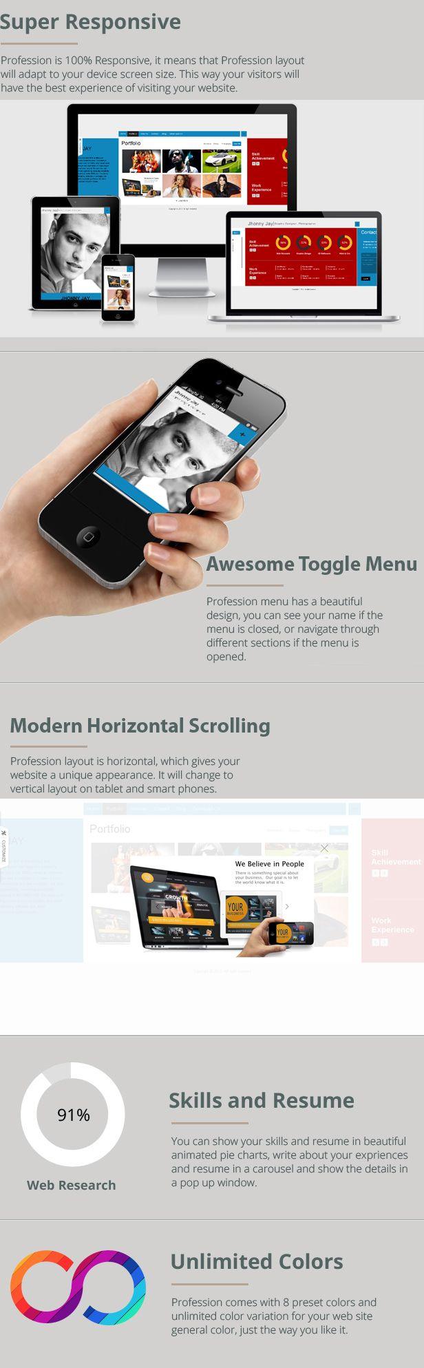 themes, responsive, portofolio webpage