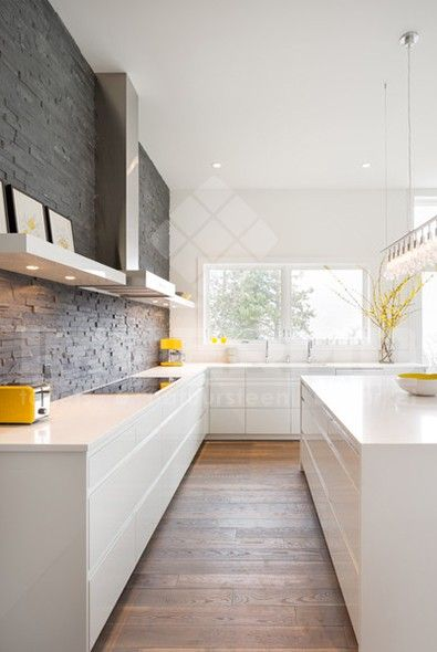 20 beste idee n over interieur bakstenen muren op pinterest - Moderne keuken muurdecoratie ...