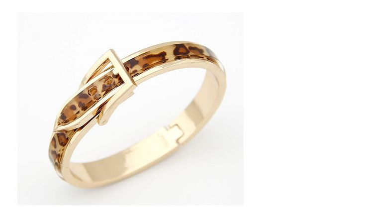Leopard print belt-style gold bangle  Code: A23462  Price: R50.00