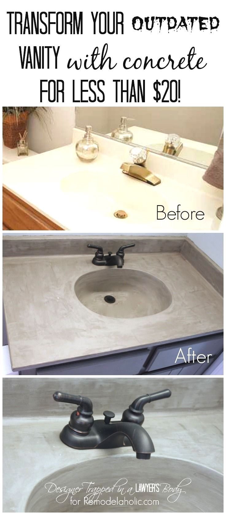 MUST PIN! Learn how to transform a cultured marble vanity with