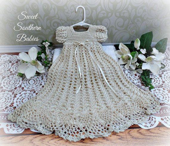 Bébés filles de soie au Crochet baptême / par SweetSouthernBabies
