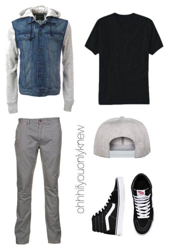 """""""Untitled #229"""" by ohhhifyouonlyknew on Polyvore featuring Flexfit, Old Navy, Vans, Just A Cheap Shirt, men's fashion and menswear"""
