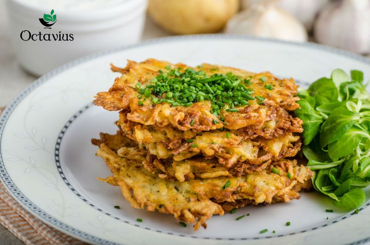 "Czech Potato Pancakes Recipe-.   This food is popular on streets of Czech republic and pair this tasty dish with Whole Leaf Darjeeling Black Tea frequently called the ""Champagne of teas,"" as this tea is quite famous in Czech tea houses. Octavius Darjeeling Whole leaf black tea is of a very premium quality with musky-sweet tasting notes similar to muscat wine. It also has a delicate vegetal, mossy, fruity, and citrus flavors."