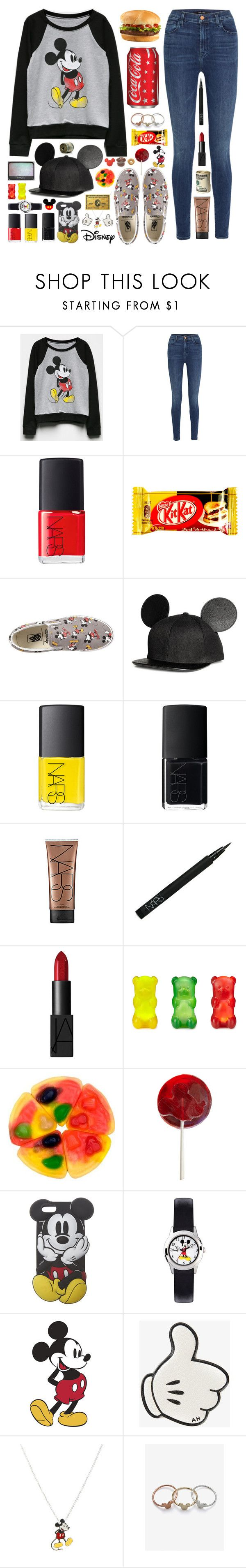 """""""Lazy day with my friends 🌼"""" by yufrenny ❤ liked on Polyvore featuring Mighty Fine, J Brand, NARS Cosmetics, Vans, Disney, Wet Seal, Buy Seasons, Anya Hindmarch and Wilton"""