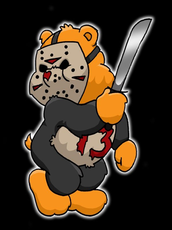 Care Bear/Jason Voorhees Mashup