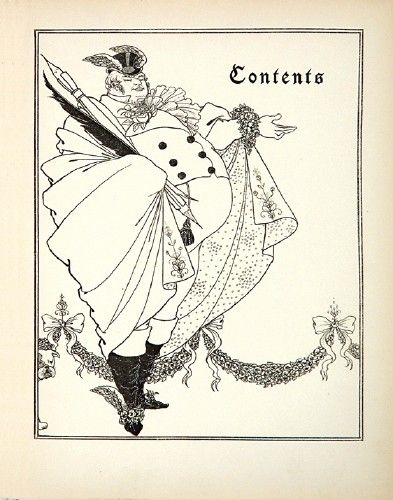Aubrey Beardsley (1872-1898). Contents page from 'The Savoy: An illustrated Quartely', 1895