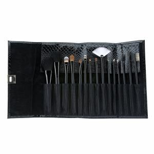 www.bancroftshop.com  Primary Benefits of Motives® Professional Brush Set - 15 Piece:  -Enhance your makeup application with all the perfect tools -Stylish, convenient and easy-to-carry black clutch included -Keeps your brushes clean and organized -Set includes the essential brushes for your face, eyes and lips -Made from the finest materials available -Natural and synthetic bristles -Brushes are made cruelty free