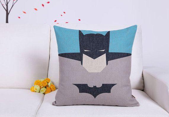 Decorative Pillow Covers, Decorative Pillows,handmade Throw Pillows, Cartoon superhero cotton linen pillow cases