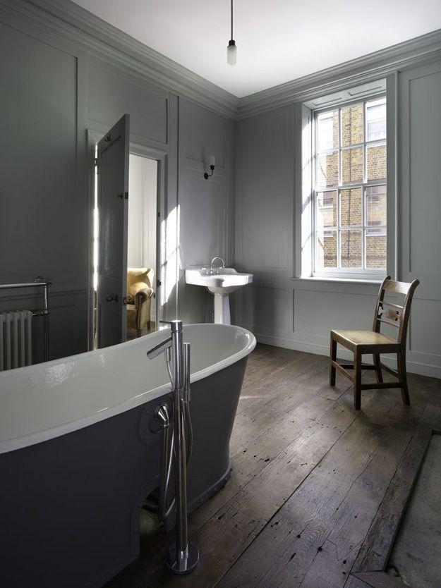 bare grey bathroom