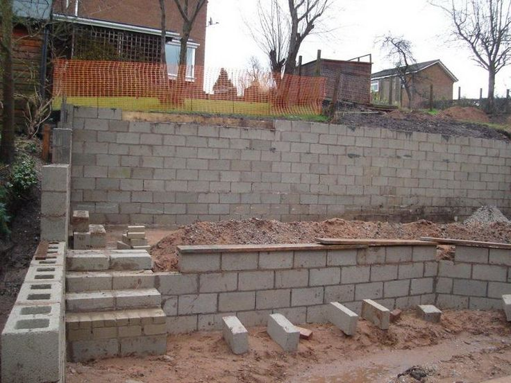 78 best images about house retaining walls on pinterest Cinder block retaining wall