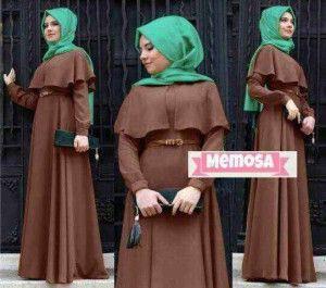 Model baju muslim syar'i dewasa coklat Km 251