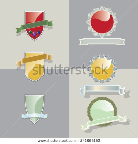 Set of vector blank retro vintage badges and labels - stock vector   #art #artwork #background #badge #banner #border #circle #collection #color #colorful #design #element #emblem #frame #graphic, #guarantee #icon #idea #illustration #label #object #ornament #package #premium #quality #red #reflection #retro #ribbon #sale #set #shadow #sign #stamp #sticker #style #symbol #template #trade #vector #vintage #warranty #yellow #shutterstock
