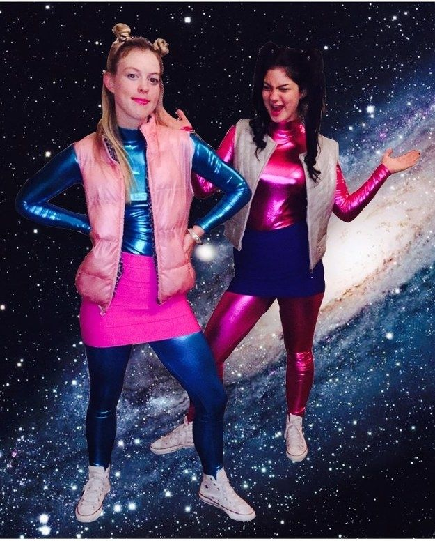 These Zenon outfits that are totally out of this world: | 35 Borderline Genius Halloween Costumes For Movie Lovers