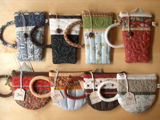 Пэчворк - лоскутное шитье. Комментарии : LiveInternet - Российский Сервис Онлайн-Дневников: Gifts Cards, Gifts Ideas, Teas Cups, Mugs Rugs, Coffee Cups, Teacups Pouch, Coins Pur, Zippers Pouch, Coffee Mugs