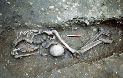 Scientists using cutting edge' genomes from Roman York.  skeleton ascertain that an Eastern Asian skeleton   found with the British. indicates they were Gladiators.