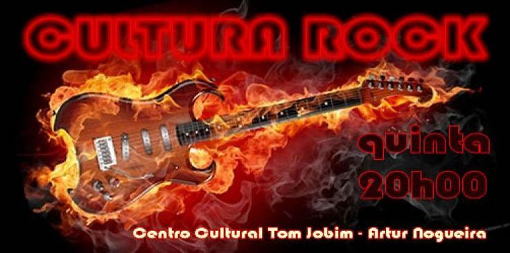 """""""O Cultura Rock de abril traz as bandas Soul Blues e Senhores Lokos! Os melhores e mais marcantes rocks nacionais e internacionais no palco do Centro Cultural Tom Jobim, dia 14, a partir das 20h"""""""