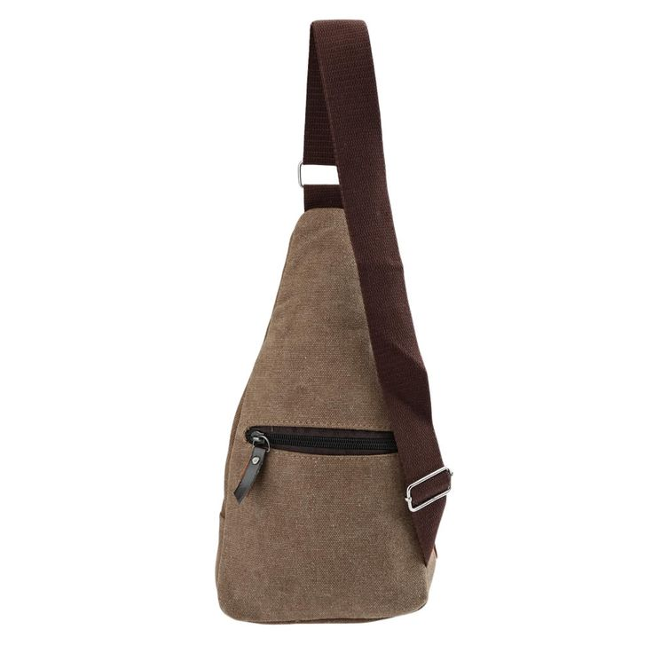 Cheap Array Vintage Men's Canvas Military Bag Zipper Pocket Shoulder Travel Bag Hiking Small Bag Black/Khaki/Coffee Online Shopping | Tomtop