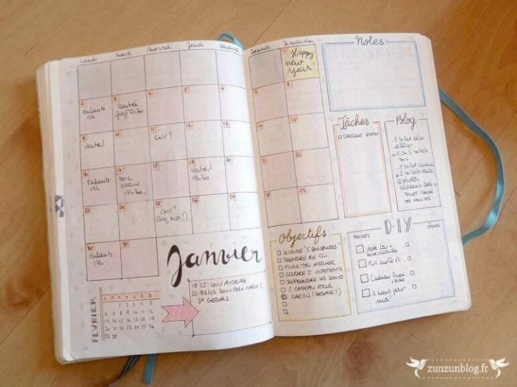 Bullet Journal 2017 Monthly Log