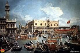 Il ritorno del Bucintoro nel molo il giorno dell'Ascensione; Canaletto; olio su tela; 1732; Royal collection, Windsor.