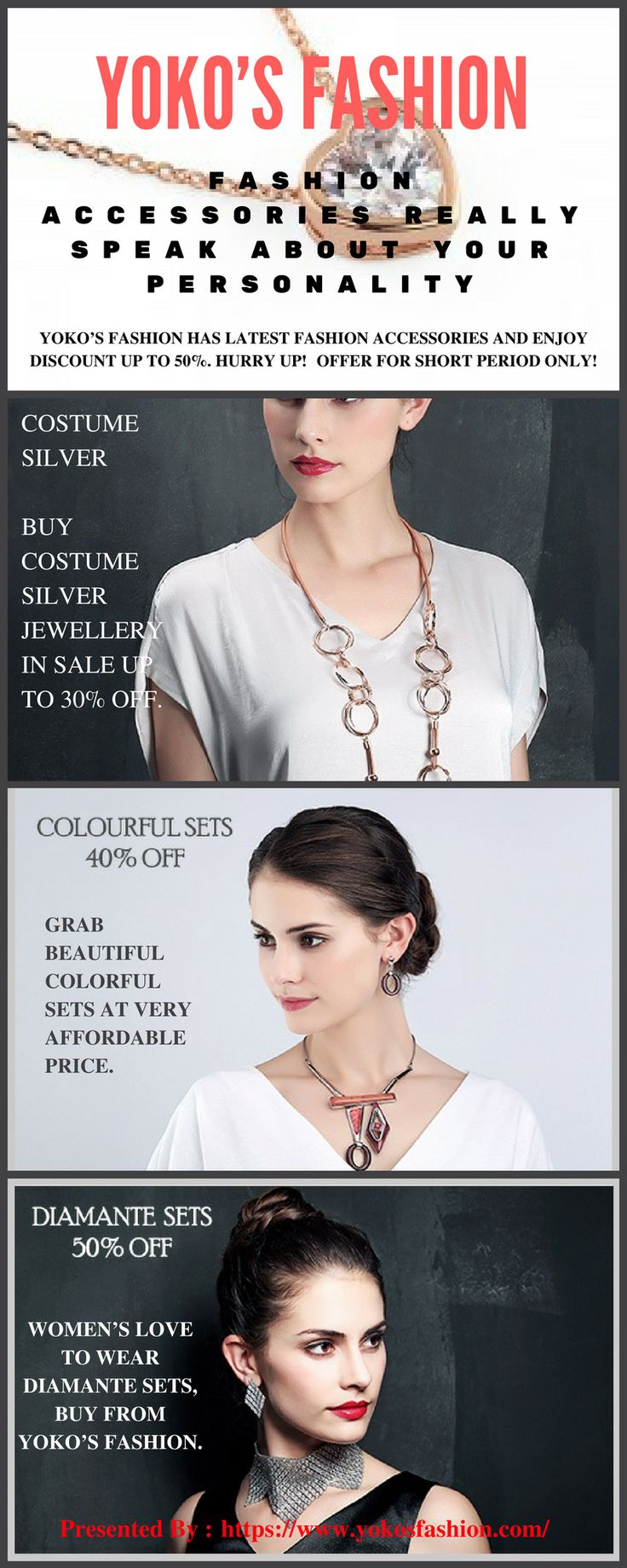 You can easily buy all the jewellery items such as necklaces, earrings, rings and much more from Yoko's Fashion at a very affordable price. Online shopping is easier as well as convenient. You can buy anytime and from anywhere what you want.Yoko's Fashion is an accessories wholesaler in Manchester.