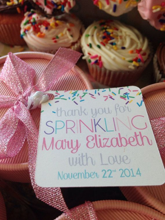 Baby Girl Sprinkle Favor Tags by PurpleSnowflakeXo on Etsy