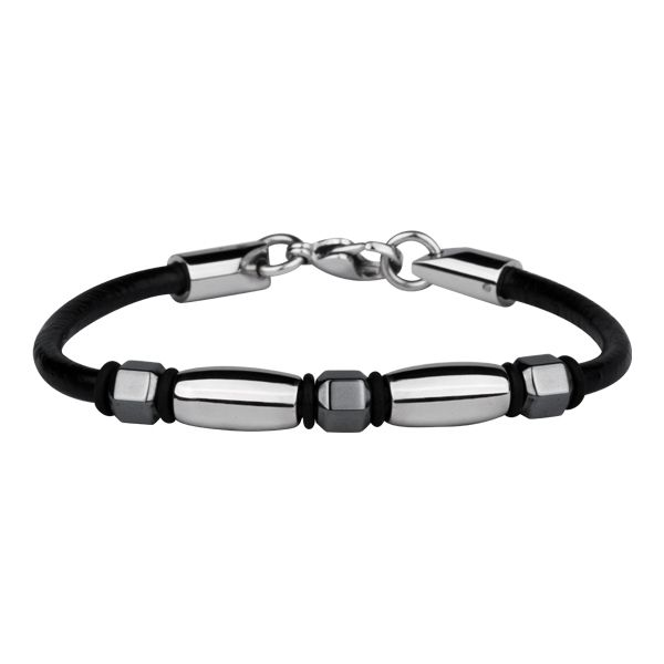 Trendy - Men's Stainless Steel, Leather and Hematite Bracelet - Forever Young Collection http://lily316.com.au/shop/bracelets-mens-stainless-steel/mens-stainless-steel-leather-and-hematite-bracelet/