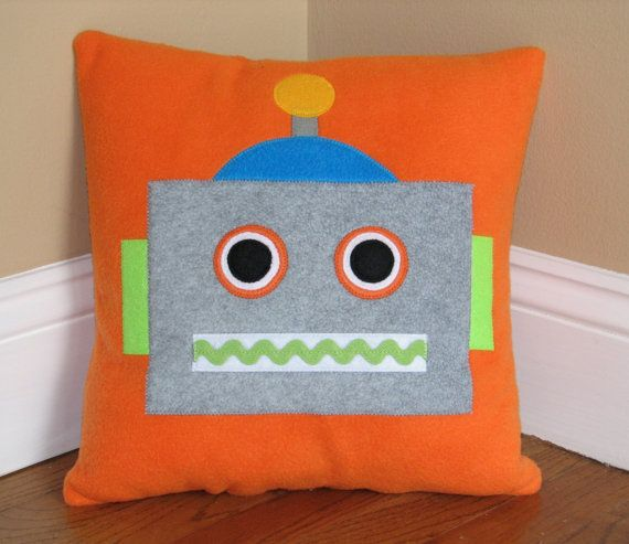 Robot Pillow by My3SillyMonkeys on Etsy