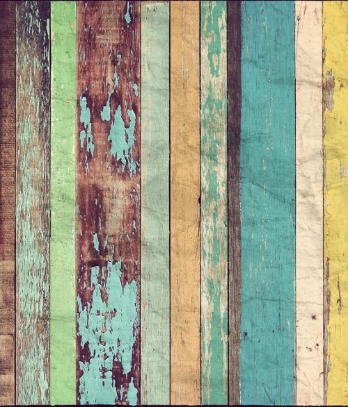 966 Colored wooden wall