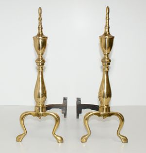 1000 images about andirons on pinterest antique brass how to clean brass and polished brass. Black Bedroom Furniture Sets. Home Design Ideas