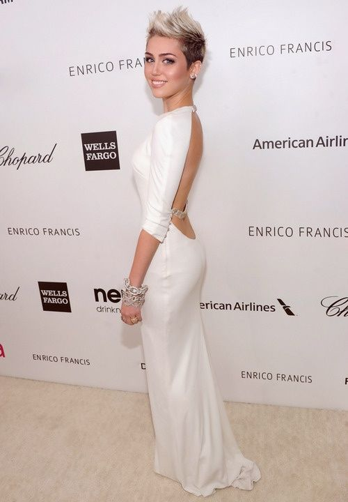 Miley Cyrus white sexy dress http://www.luvtolook.net/2013/05/miley-cyrus-white-sexy-dress.html