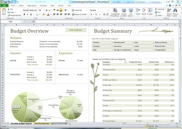 Image Of Family Budget Template  Budgeting    Family