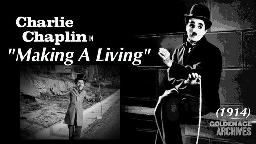 """Charlie Chaplin in """"Making A Living"""" (1914) - Video Dailymotion"""