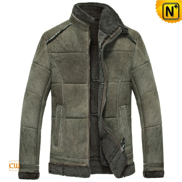 Winter Leather Shearling Sheepskin Jacket Mens CW860237 $1595.89 - www.cwmalls.com Our handsome winter leather shearling sheepskin jacket for men come in many styles with all sorts of cool added features, quality lamb fur striking attached to the cuffs and bottom fringes of this shearling sheepskin jacket!