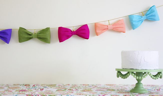 bow-tie garland... can the theme of your baby shower be bow ties @Rachel Bowles so we can make this garland!?!?! :)
