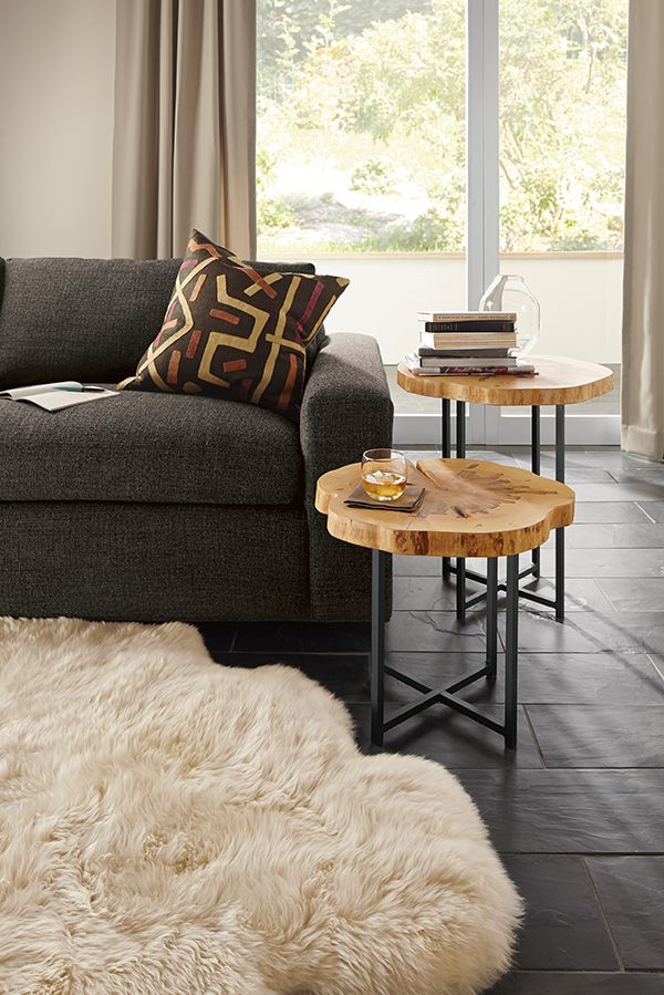 Allard End Tables In Natural Steel Modern End Tables Modern