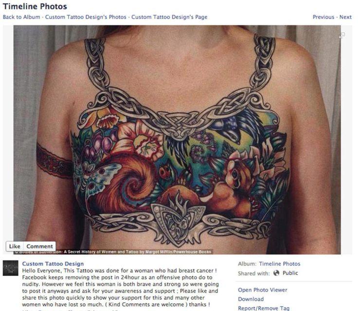 Facebook censuró esta imagen de una superviviente de cáncer de mama porque violaba su política de uso