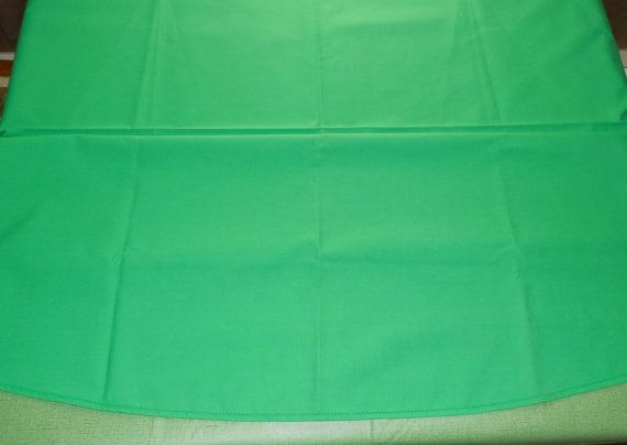 """Green Oval Tablecloth 72"""", Nice Bright Green Oval Tablecloth, Small 26"""" Runner Included, Ready for Christmas"""