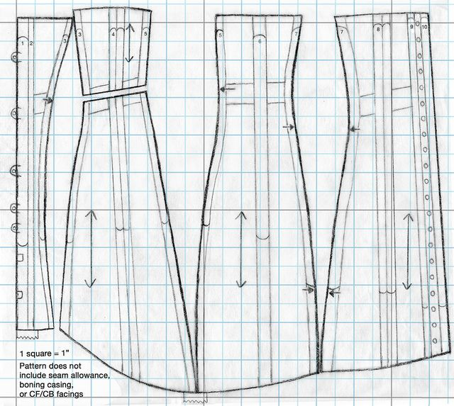 pattern by festive attyre, Pattern and tutorial for 1910's era corset