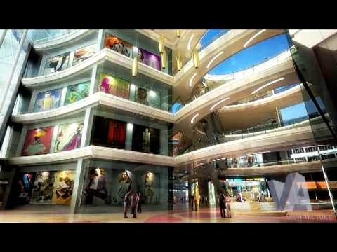 3d Studio Max architecture animation - Cars, Shopping Centre, Restaurant www.apexvantage.com