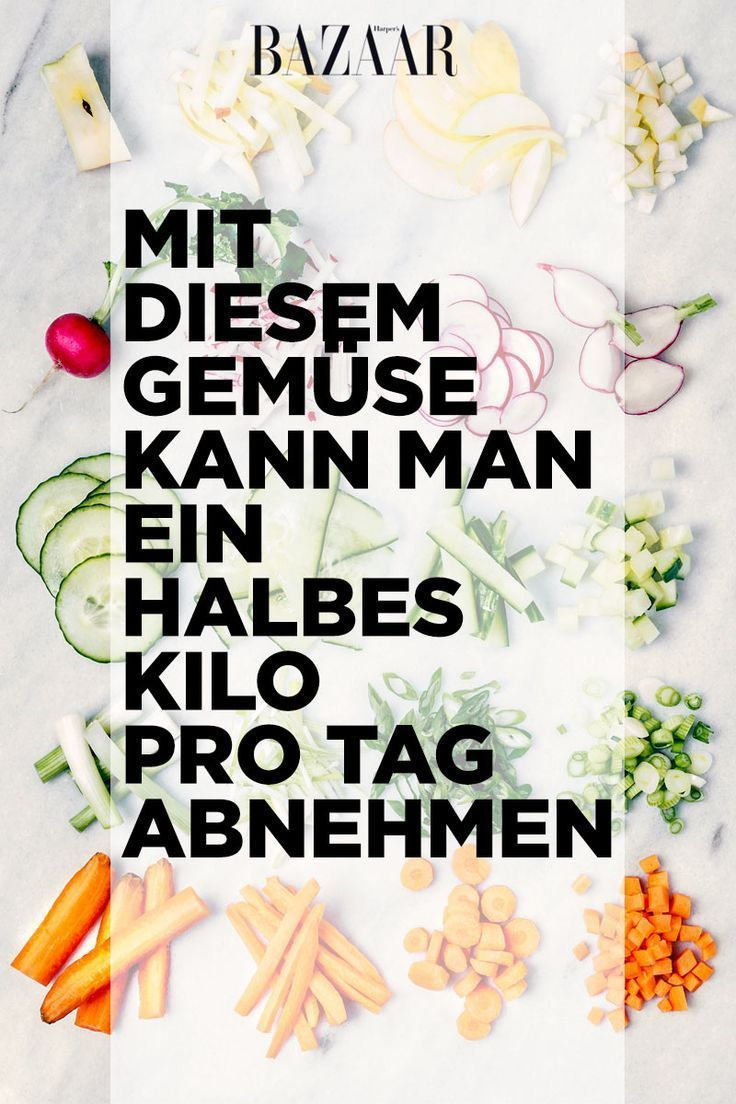 Abnehmen mit Gemüse essen