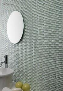 Wave 3D Glass Tile | Egypt Isis | MineralTiles.com