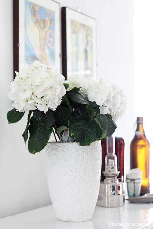 hortensia, krus, brunt glas, oljelampa, karlskronalampa