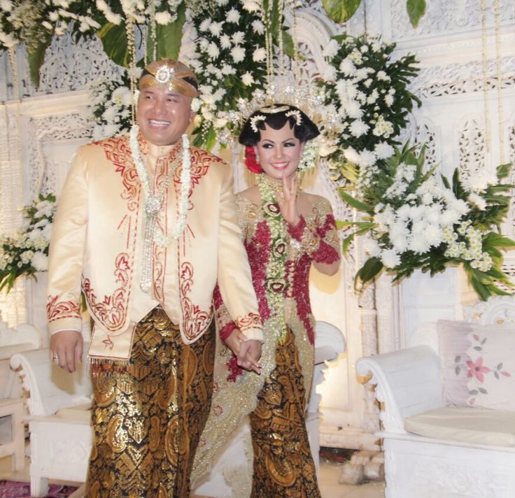 #javanese #wedding #bride #red #gold #kebaya