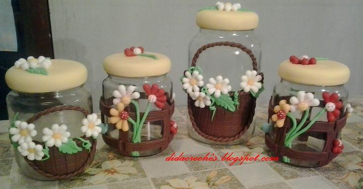 vidros decorados com biscuit para banheiro - Pesquisa Google