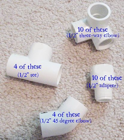 instructions for pvc playhouse