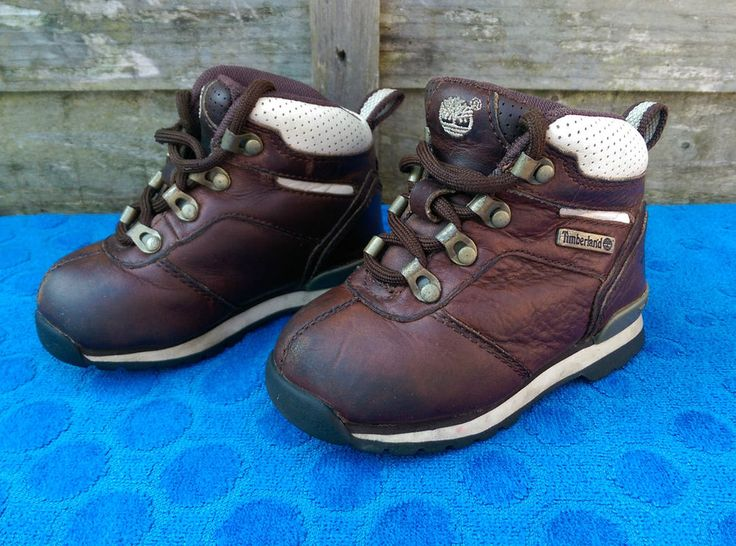 Boys Timberland Boots Brown Colour Size 6 UK Infant, Original Laces, Nice!