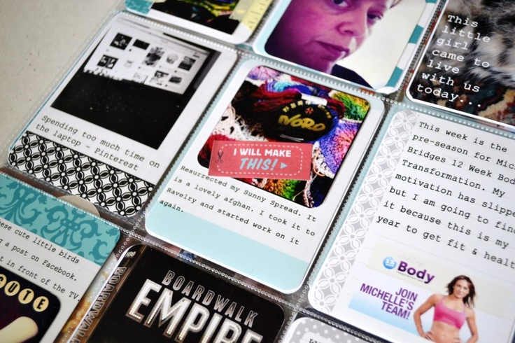 Project Life - Wk 3 2012 Digital journal cards and stickers.