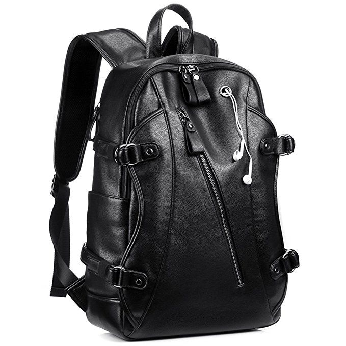 45049ecd40d84 [Affiliate] Leather Backpack, KISSUN 15.6 inch Business PU Soft Leather  Anti Theft Backpack for Men School College Bookbag Laptop Computer Bags, ...